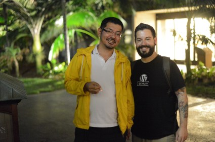With Takashi - Automattic Grand Meetup 2012, San Diego